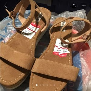 Sandal Wedges Beige With White SIZE 13